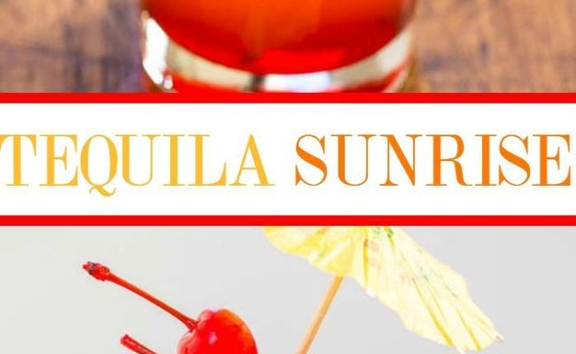 Tequila Sunrise Recipe Cocktails Holiday And The O Jays