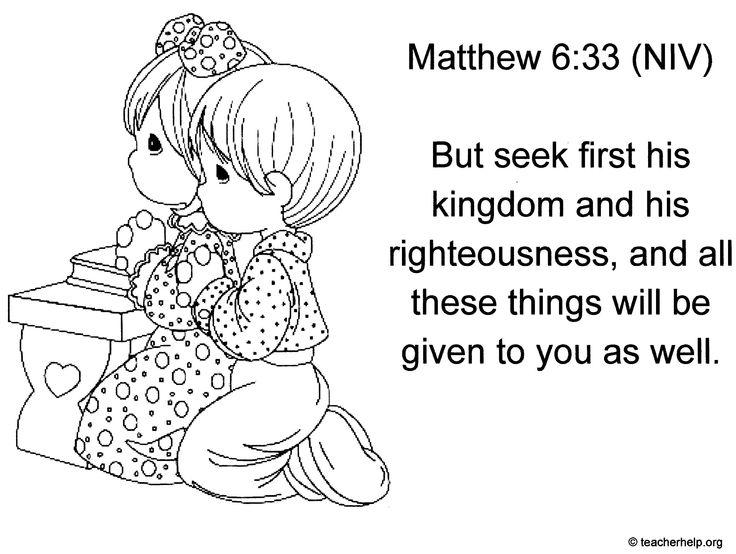 Matthew 6:33 can be downloaded from http://www.teacherhelp