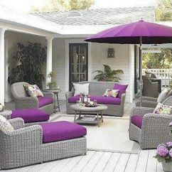 Crate And Barrel Armless Chair Outdoor Covers Lowes Purple & Gray Patio Furniture | Comfy Patio's! Pinterest Gray, Shades