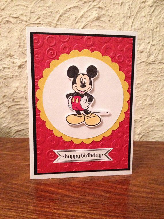 Handmade Mickey Mouse Birthday Card Handmade Cards