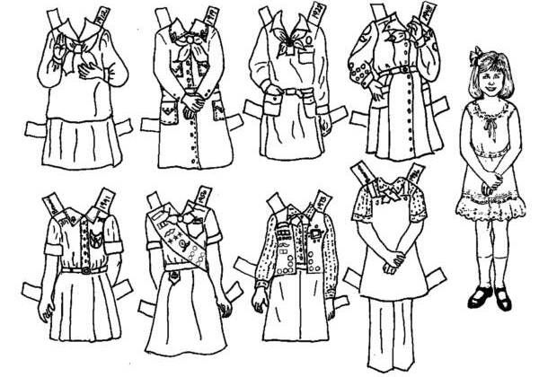 Uniforms through the Years from the Girl Scout Council of
