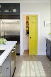 colored pocket door to pantry.   HOME   Pinterest   Pocket ...