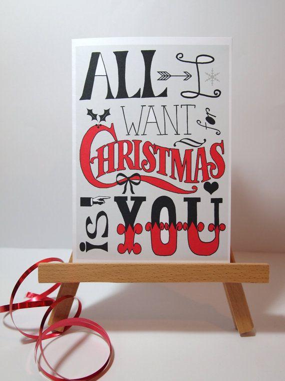 Christmas Card Boyfriend Girlfriend All I Want For