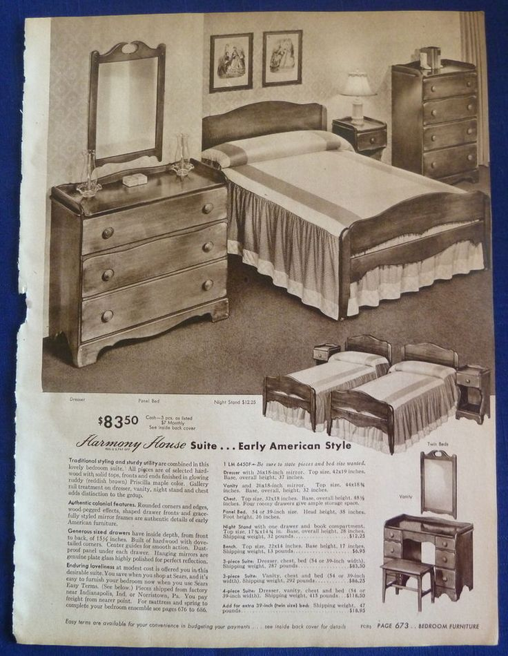 1940s Sears furniture ad  MidCentury Modern  Pinterest  Furniture and 1940s