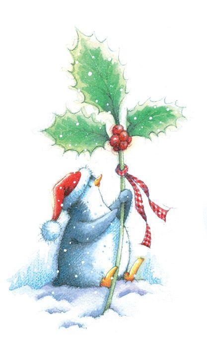 penguin cute christmas