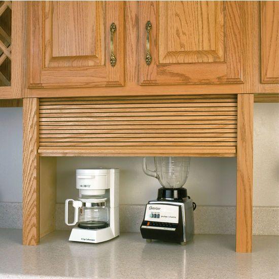 roll up cabinet doors kitchen honest dog food appliance garage - wood tambour straight ...