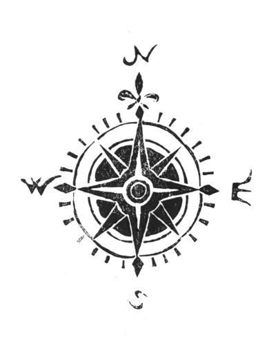 Simple Compass Rose Tattoo Auto Electrical Wiring Diagram