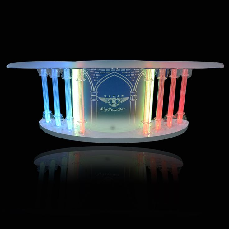this is a church pulpit made of acrylic with LED light inside It looks grand and elegant
