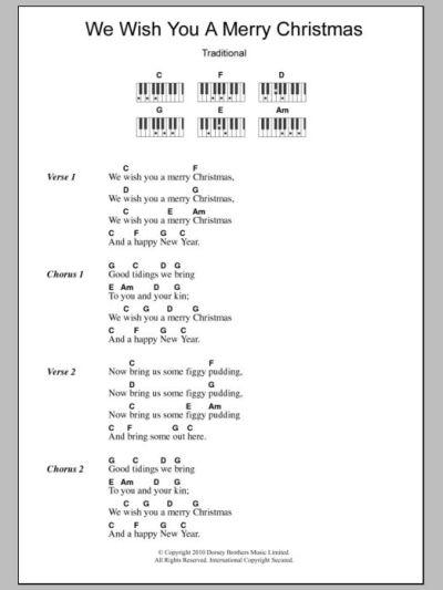 ukulele lyrics and chords we wish you a merry christmas ...