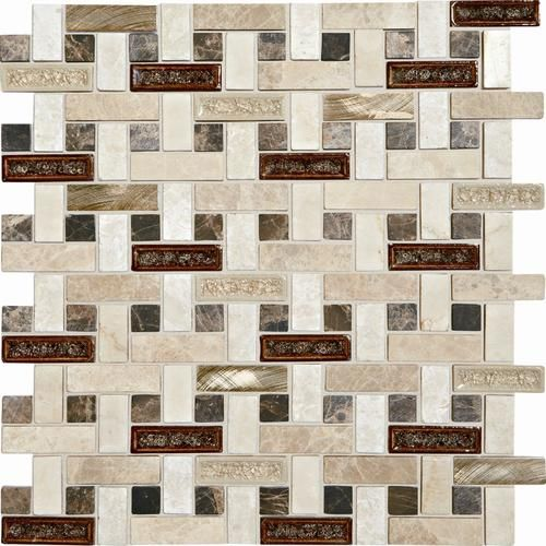 lowes outdoor kitchens kitchen fridge mohawk phase mosaics stone and glass wall tile 5/8