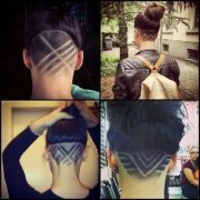 15 - shaved head design