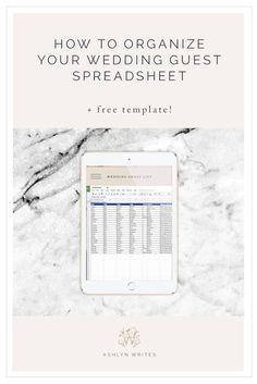 1000+ ideas about Wedding Spreadsheet on Pinterest