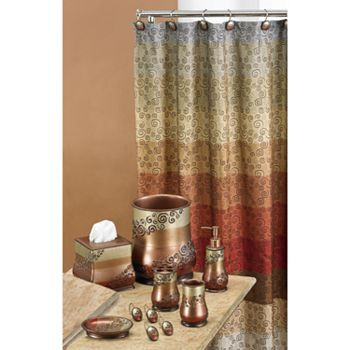 Miramar Fabric Shower Curtain Multicolor  Warm Kohls