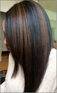 1000 Ideas About Highlights For Black Hair On Pinterest Of ...