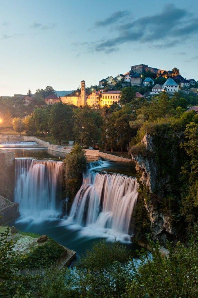 Falls Wallpaper Waterfall Jajce Bosnia Bosnia And Herzegovina Tourist Attractions