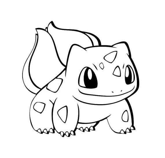 Bulbasaur Outline Wall/Laptop Decal on Etsy, $3.11