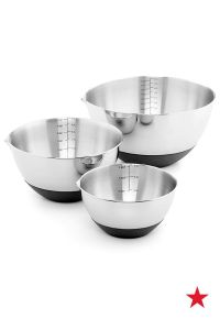 Martha Stewart Collection Set of 3 Non-Skid Mixing Bowls ...