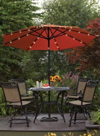 Better Homes and Gardens 9' Round Umbrella with Solar ...
