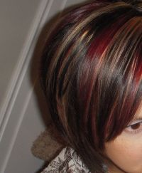 Red and Caramel highlights | Hair ideas | Pinterest ...