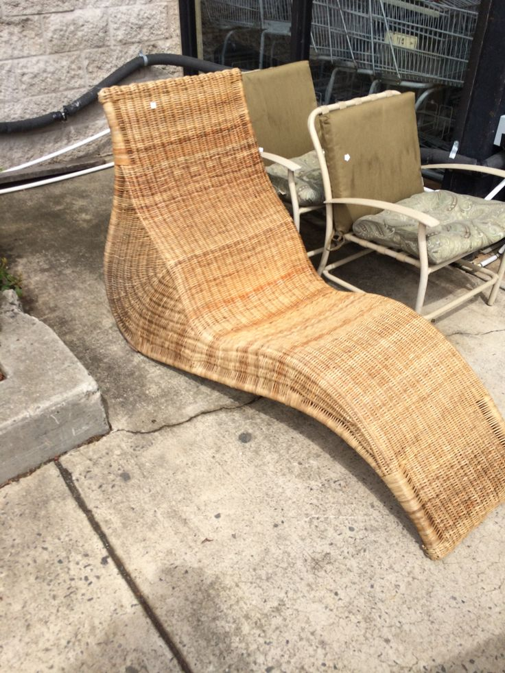 swinging outdoor chair antique dining chairs vintage rattan pool chaise lounge   pinterest rattan, and lounges