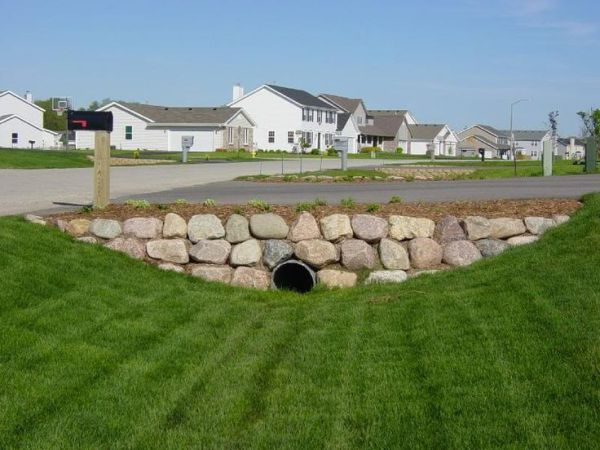 25 Landscaping Around Driveway Culvert Pipes Pictures And Ideas On
