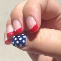Patriotic nail art | My Style | Pinterest | Fourth of July ...
