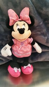 "Disney Minnie Mouse 8"" Stuffed Animal Plush Toy Pink Bow ..."