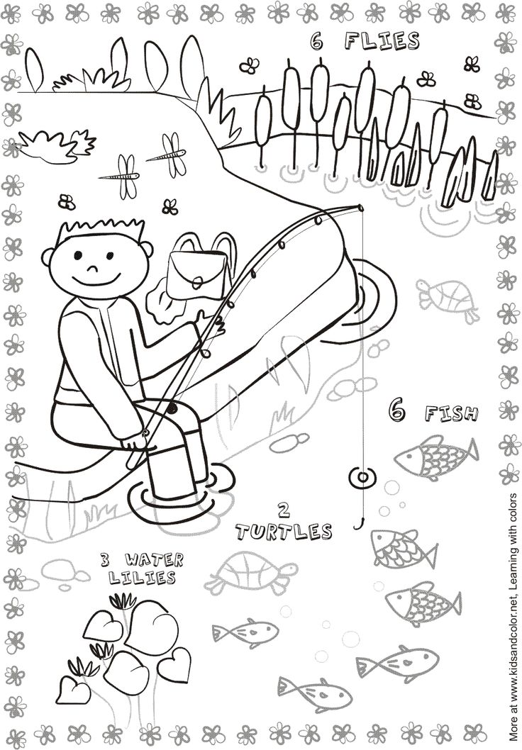 Picture composition, Composition and Coloring pages on