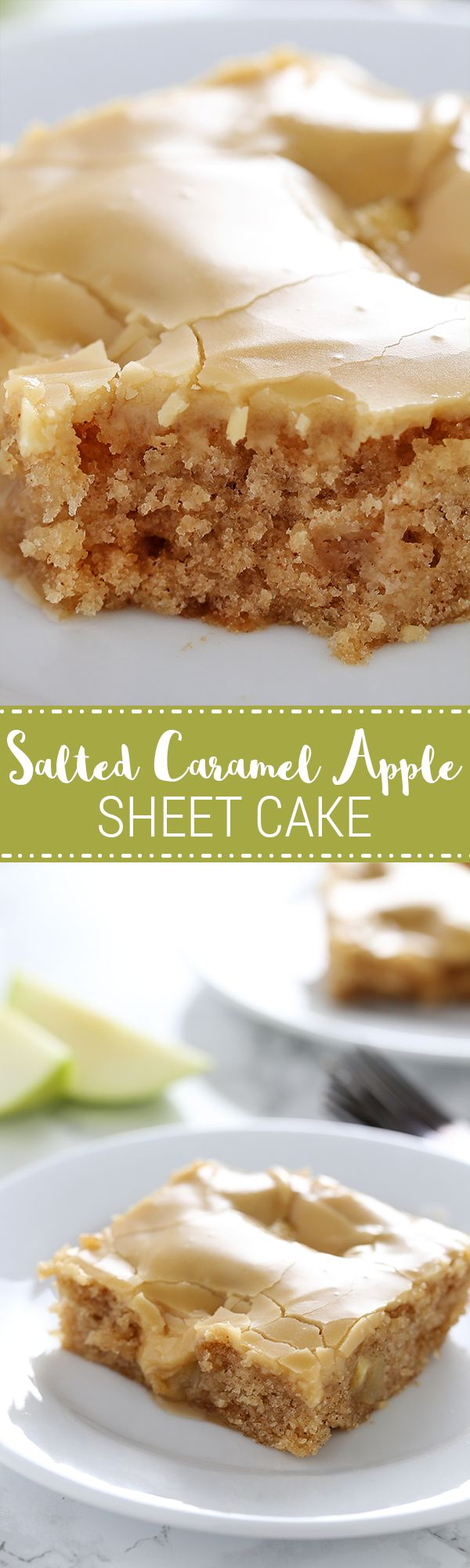 EASIEST and most DELICIOUS fall cake ever!! Perfect for serving a crowd because ev