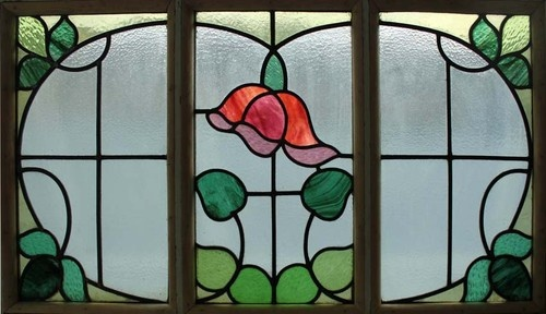 The Very Best Floral Art Nouveau Stained Glass Window