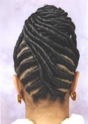 silky flat twists updo natural
