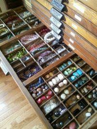 Hamilton cabinet for bead storage | Jewellery - Display ...
