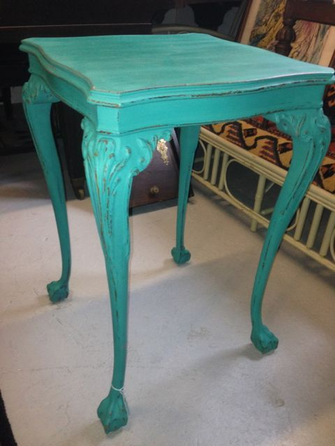 bedroom ball chair felt protectors antique mahogany and claw side table professionaly painted sealed with annie sloan ...