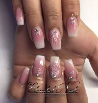 French ombr Acrylic Coffin nails   Nails!   Pinterest ...