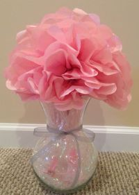 Girl Baby Shower centerpiece using a vase, small plastic ...