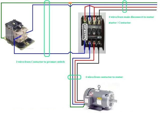 contactor coil wiring diagram 7 pin trailer hitch three phase electrical info pics | non-stop engineering pinterest