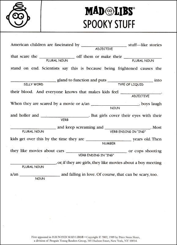 29 best Madlibs images on Pinterest