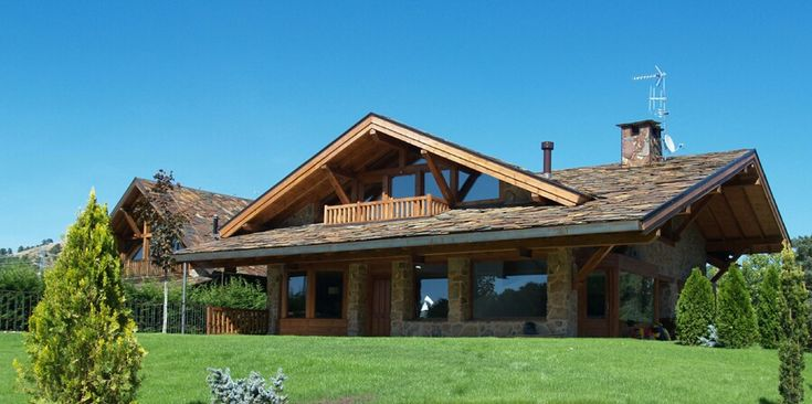 Casa rustica con madera  Casas  Pinterest