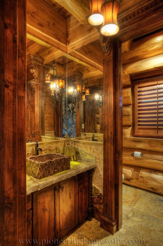 532 best images about Rustic bathrooms on Pinterest  Log