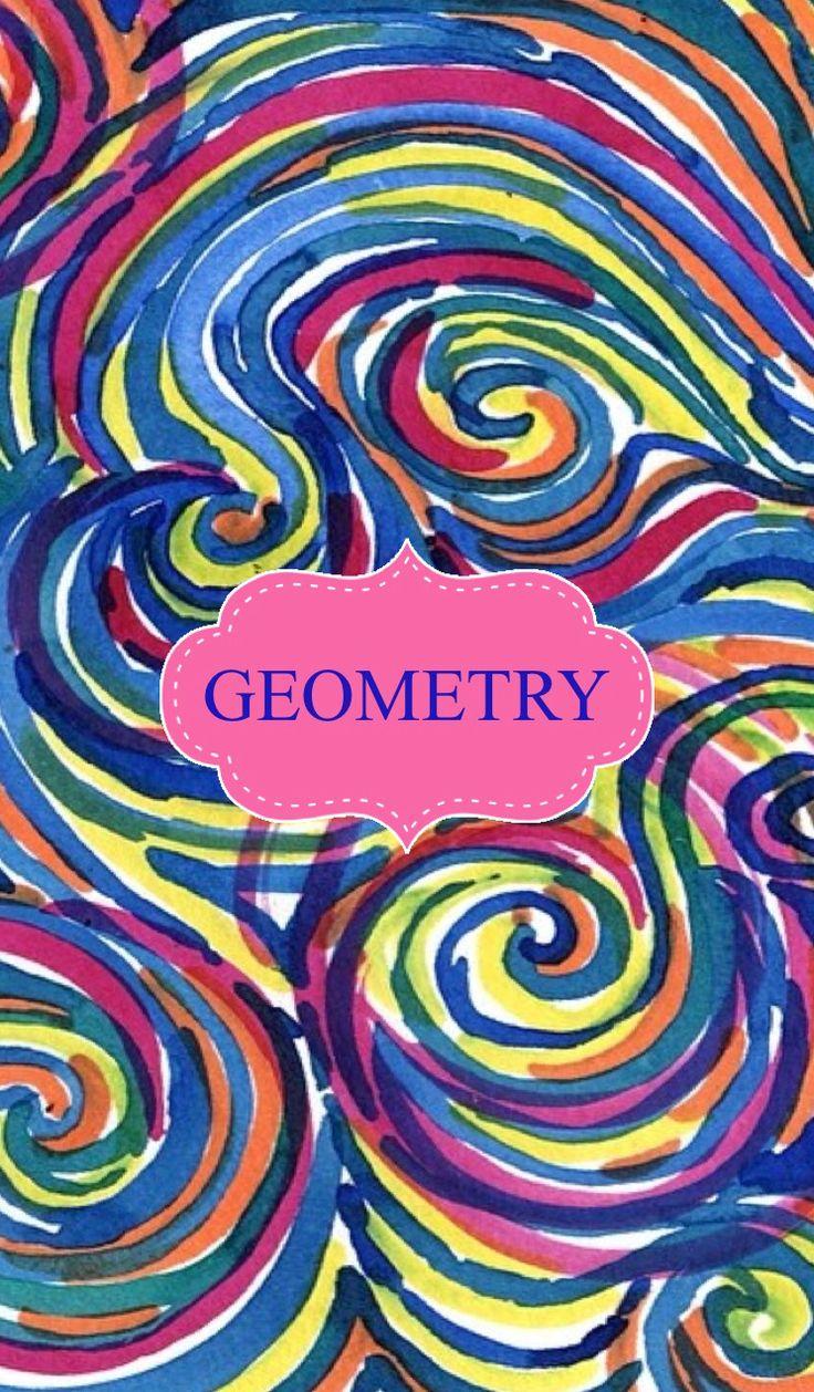 Geometry Binder Cover Binder Covers Pinterest Binder