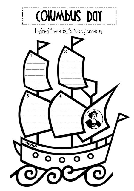 Free Columbus Printable. Click on picture. Would make a