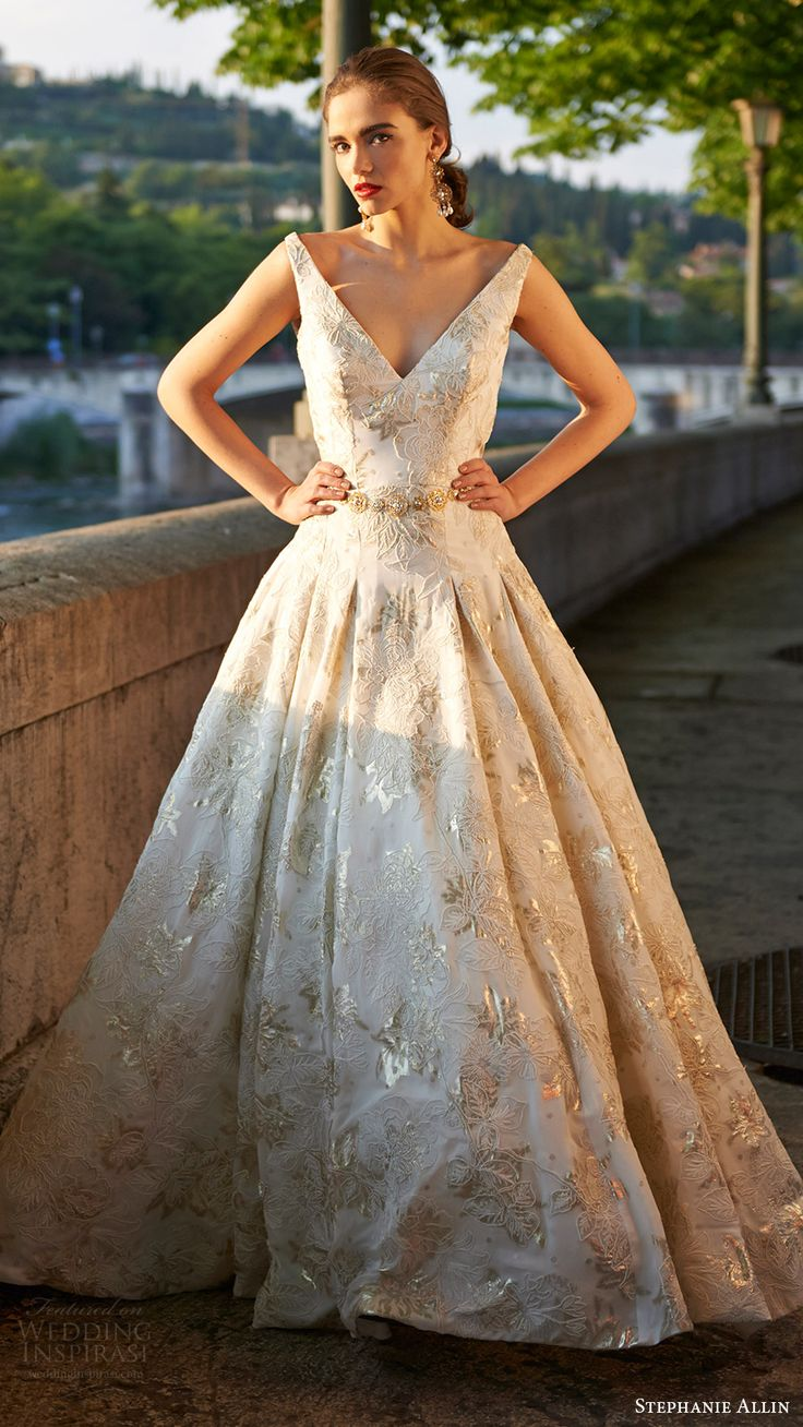 1000 ideas about Gold Wedding Dresses on Pinterest  Gold Weddings Weddings and Wedding dresses