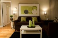 dark+brown+and+lime+green+living+room+wall+ideas | brown ...