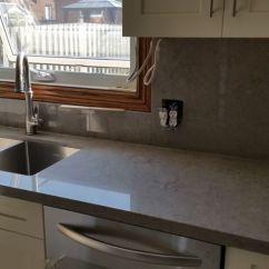 Retro Metal Kitchen Cabinets Flush Mount Lighting Caesarstone Symphony Gray - Google Search | Counter Top ...
