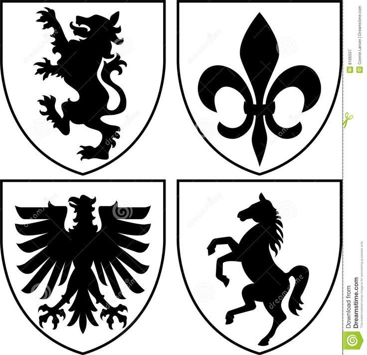 Heraldic Crests/Coat Of Arms Eps Royalty Free Stock