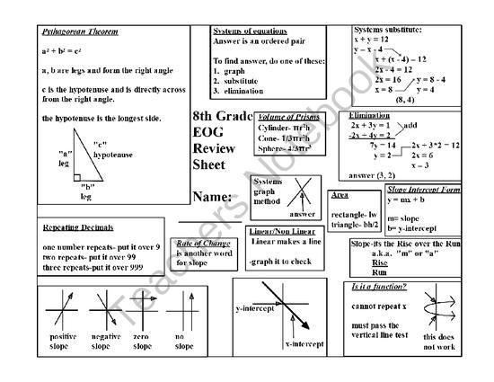 All Worksheets » Algebra 1 Eoc Review Worksheets