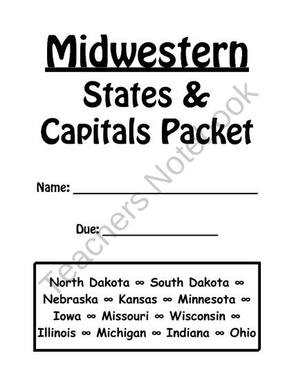 17+ best images about 4-SS-States & Capitals on Pinterest