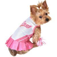 Pink Cheerleader Dog Costume - Party City | pugs ...