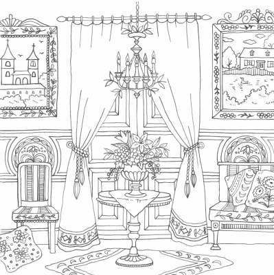 Coloring Pages Victorian House Interior Coloring Pages