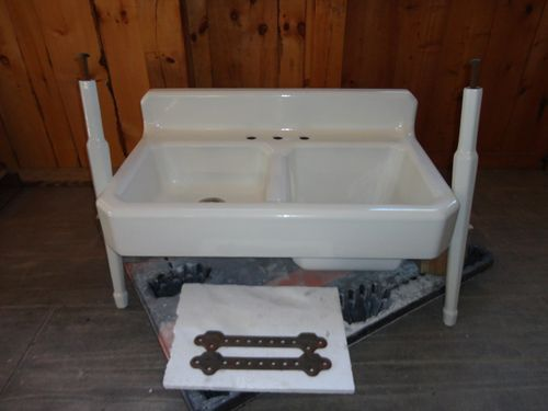 Antique Cast Iron Farm Farmhouse Vintage Apron Kitchen Sink Amp Legs Aprons Farms And Sinks